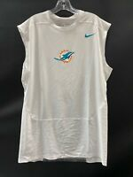 MIAMI DOLPHINS GAME USED DRI-FIT NO SLEEVE COMPRESSION SHIRT SIZE 4XL