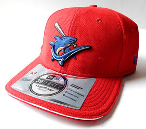 Clearwater Threshers Red New Era 39Thirty Fitted Hat Cap Size L-XL