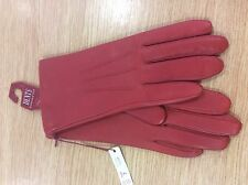 Dents Womens Red Leather Gloves Size 7 NEW