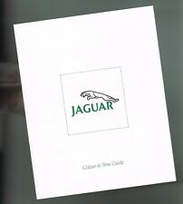 1988 Jaguar COLOR CHART Paint Chip Sample Guide Brochure with LEATHER's