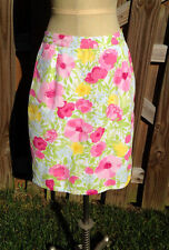 Gymboree Easter Celebrations Women's 8 Mom Floral Skirt Summer Flower Pink White