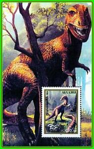 ABKHAZIA 1993 DINOSAURS S/S MNH ** REPTILES, ANIMALS