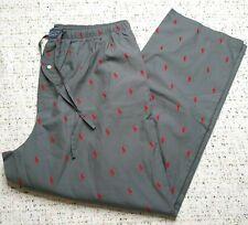 Polo Ralph Lauren Signature Pony Pajama Pant Mens Sz XL Gray Red