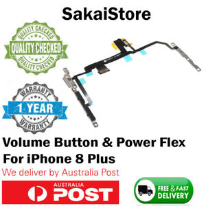 Power Volume Button Mute Microphone Flex Cable Replacement For iPhone 8 Plus