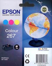 CARTOUCHE EPSON 267 T267 COULEUR POUR WORKFORCE WF-100W / 266 globe mappemonde