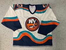 New York islanders white wave jersey rare team issue