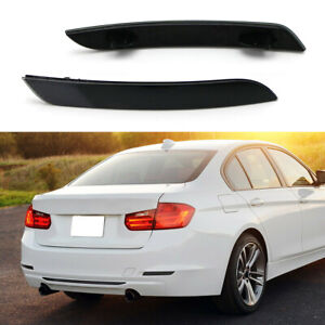 Pair Smoked Black Rear Bumper Reflector Lens For BMW  F30 F31 F32 F33 3 4 Series