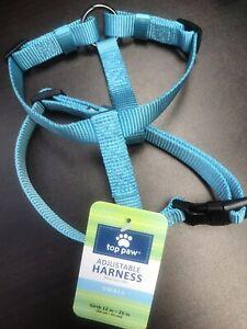 Top Paw Adjustable Dog Harness, Aqua Blue  Size: SM