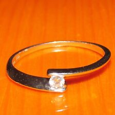 STUNNING  SECONDHAND 18ct WHITE  GOLD  DIAMOND   SOLITAIRE  RING SIZE M