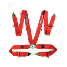 """Takata Race Seat Belt 4 Point FIA Approved Drift 3"""" ASM Snap On Harness - Red"""