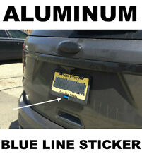 """👮 Thin Blue Line License Plate Sticker Decal Police Officer 1.5""""x1"""" 👮"""