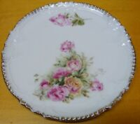 Germany Small Desert Plate Rose Bouquet Gold Trim Vintage Royal Bavaria China