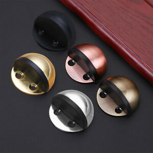 Stainless Steel Brushed Door Stop Stopper Holder Floor Mounted Safety Catch 5B5