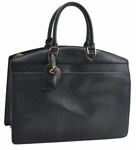 Authentic Louis Vuitton Epi Riviera Black Hand Bag M48182 LV A5246