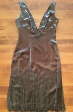 Papell Boutique Brown Evening Dress Style Sleeveless Sheath  Size 6 Cocktail