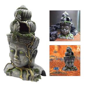 Acquario Decorazione Statua di Buddha Scultura di Pesce Serbatoio Acquario