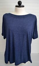 Ladies OLD NAVY Maternity Sz XL Heathered Blue Boatneck Knit Top Shirt