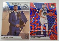 2019-20 Panini Mosaic Steph Curry REACTIVE BLUE PRIZM SSP + MVPs base
