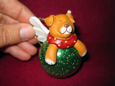 RARE Dog Wings RUSS Berrie Wags to Whiskers Christmas Ball Ornament Hand Painted