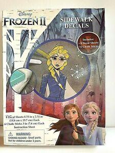 Disney Frozen II Activity & Chalk Set Sidewalk Decals 8 Decal Sheets Party FUN!