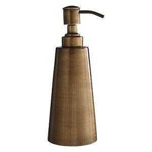 Madison Stainless Steel Bathroom Liquid Gel Soap Lotion Dispenser Brass Bottle