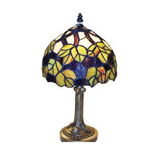 Green Maple Leaf Tiffany Stained Glass Table Lamp RM8 PMCR19TL