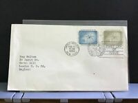 United Nations 1958 New York England  1st Day Issue stamps cover R31183