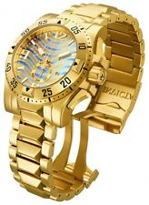 InvictA 15976 Excursion Yellow Gold Swiss Diver 200 M BLUE-GOLD dial NEW 15975