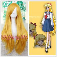 Sailor Venus Minako Aino Sailor Moon 80cm Long Blonde Straight Cosplay Wig