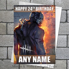 Dead by Daylight personalised birthday card. 5x7 inches. Computer game.