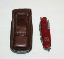 Leatherman Tool Belt Sheath With Red Folding Multi Use Pocket Knife USA Made