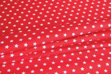 Webware Baumwolle STERNE auf ROT Kinder Stoff  *** 50 cm x 150 cm ***