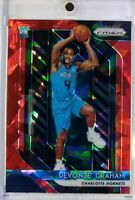 2018-19 Panini Red Cracked Ice Prizm Devonte Graham Rookie RC #288, Refractor