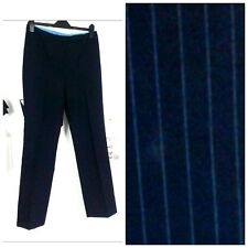 dorothy perkins sexy trousers pants pinstriped navy blue size 10 12