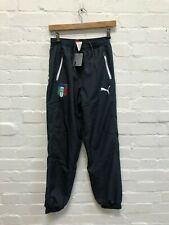 PUMA Italy Football Men's FIGC Leisure Pants - Grey - New