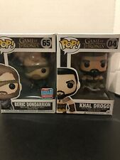 Beric Dondarrion #65 2018 Fall Convention Exclusive And Khal Drogo #04 Open Box