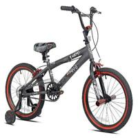 "Kent 18"" inch Boys Freestyle Bike BMX Gray Training wheels pegs Riding Bicycle"