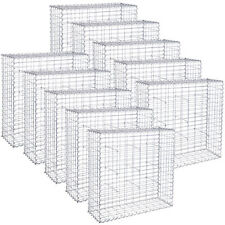 More details for songmics gabion stone basket retaining wall wire cage fench privacy galvanized
