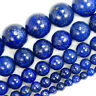 "Natural Lapis Lazuli Gemstone Beads 15"" 4 6 8 10 12 14mm Pick Size"