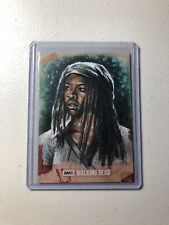 Topps Walking Dead Hunters and the Hunted #1/1 Sketch Card Full Color Huy Truong