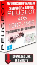 Service Workshop Manual & Repair PEUGEOT 405 1987-1996 +WIRING | FOR DOWNLOAD