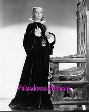 "GRETA GARBO 8x10 B&W Lab Photo ""Queen Christina"" 1933 Magestic Throne Portrait"