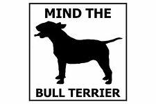 Mind the Bull Terrier - Gate/Door Ceramic Tile Sign