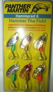 #1251  NEW PANTHER MARTIN HAMMERED 6 TROUT SPINNER  FISHING LURES
