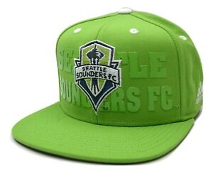 Seattle Sounders FC adidas NZP50 Academy MLS Soccer Team Snapback Hat Adjustable