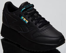 8d18c8e27a Reebok x Gigi Hadid Women s Classic Leather Double Black Lifestyle Shoes  DV5392