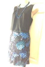ASOS chiffon sequins Blouson open back Party evening holiday short Dress UK 10