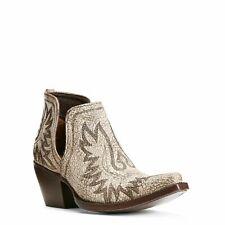 Ariat® Ladies Dixon Blanco White Western Ankle Boots 10027284