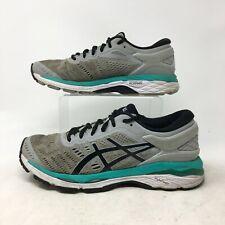 Asic Gel Kayano 24 Sneakers Running Shoes Lace Up Flyte Foam Mesh Grey Mens 8.5