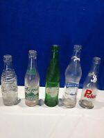 Lot Of 5 Vintage Soda Bottles